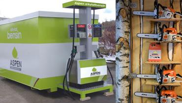 Akrylat bensin på pump